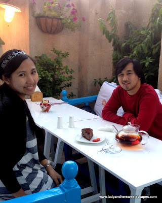 Ed and Lady at Arabian Tea House