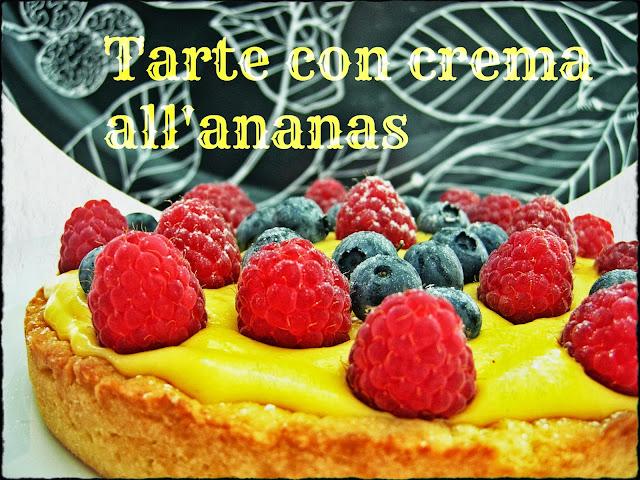 tarte con crema all'ananas