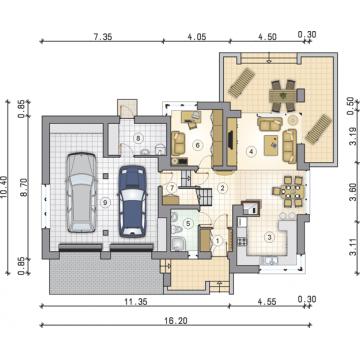 Proiect casa moderna parter si etaj
