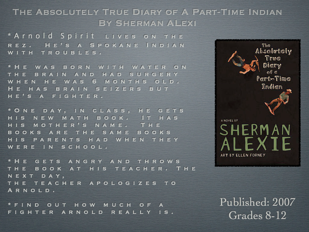 the theme of family in flight a novel by sherman alexie Sherman alexie won a national book award for the absolutely true diary of a part-time indian it was a novel, and it sprang from his experiences living on and leaving the spokane indian.