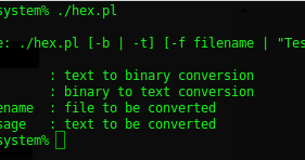 Perl convert hex to binary pack