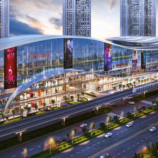 Trung tâm mua sắm kết hợp với khu dân cư cao cấp An Phú toả sáng về đêm