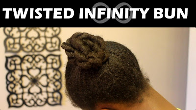Twisted Infinity Braided Bun on Natural Hair