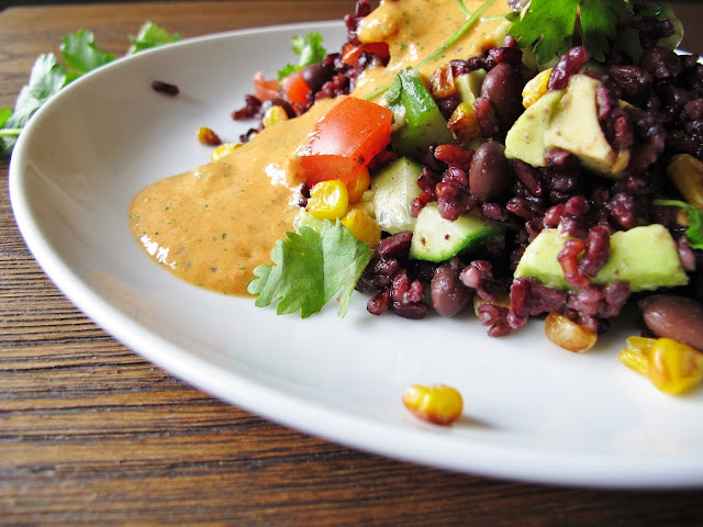 Black Rice and Bean Salad