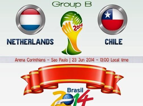 Tările de jos vs. Chile live 23 iunie 2014 Olanda