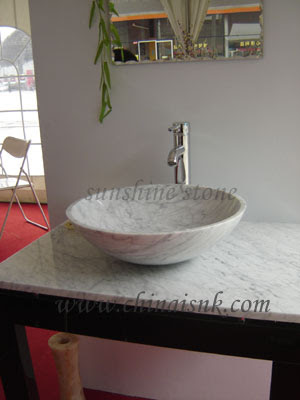 carara round vessel sinks bathroom set Vessel Sinks