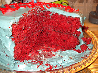 gateau velour rouge