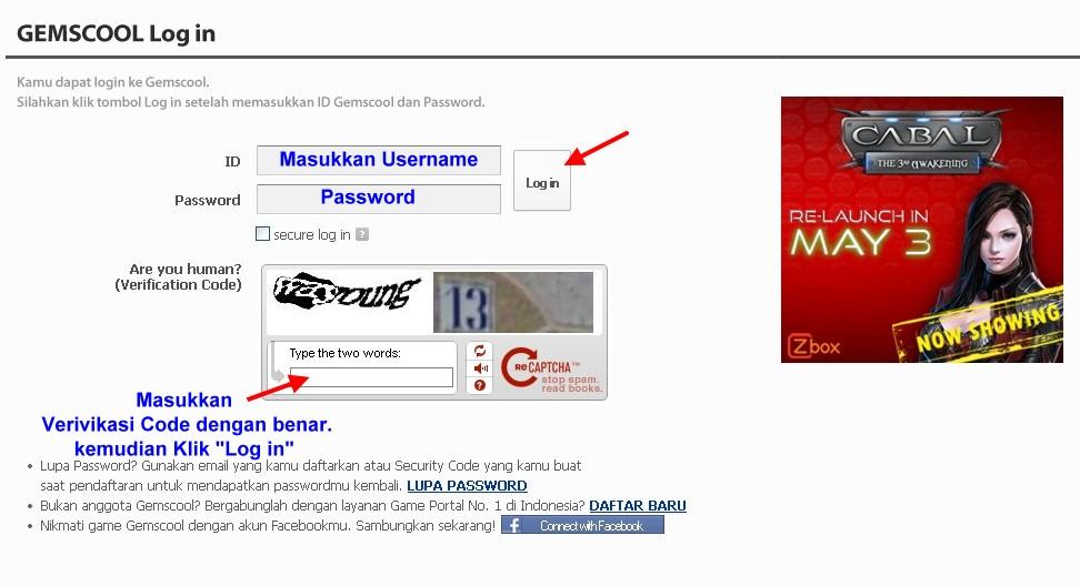 Dan jangan Lupa Untuk memasukkan kode verifikasi. lalu tekan LOG IN ...