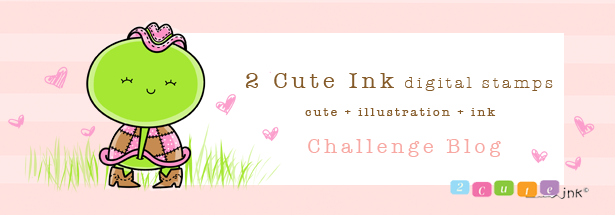 2 Cute Ink Digital Stamps Challenge Blog