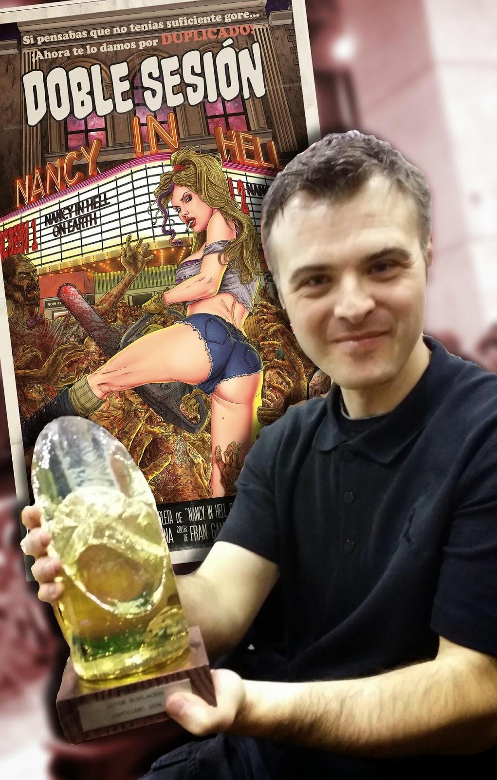 Enrique L. Lorenzana Premio Expocómic 2014 autor revelación