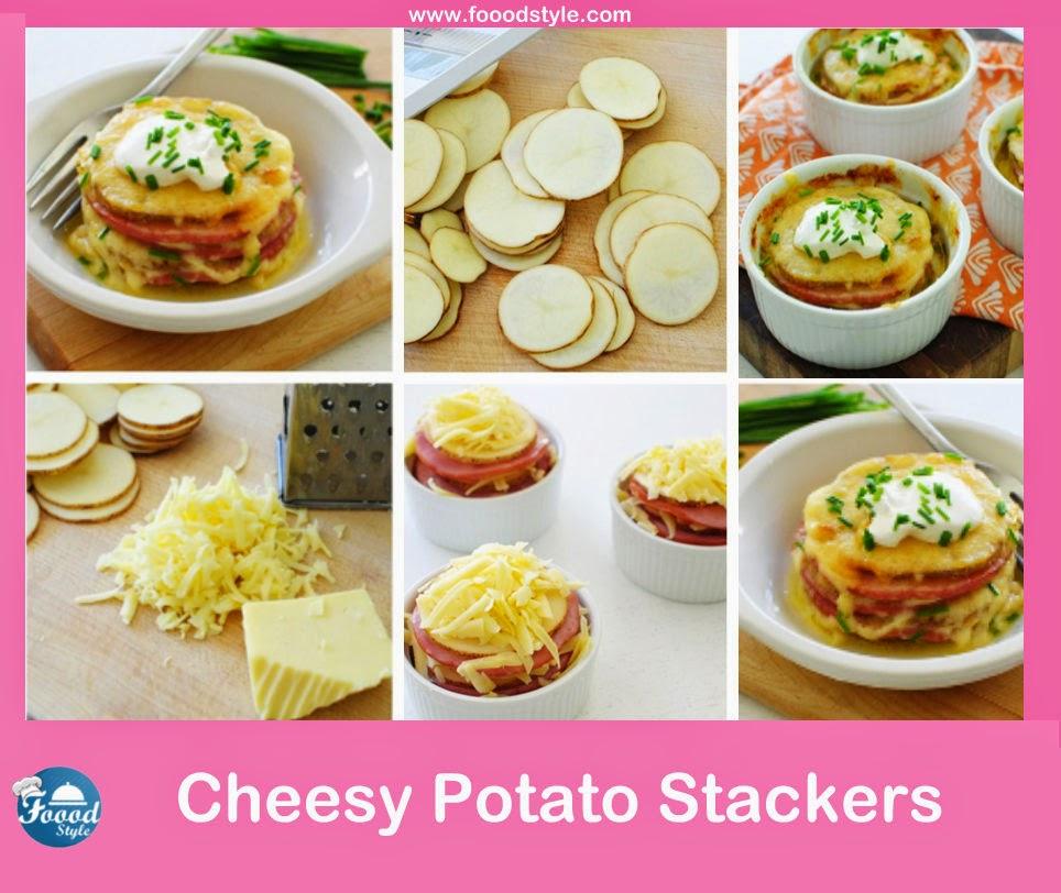 Yummy Cheesy Potato And Mortadella Stackers Idea Foood Style