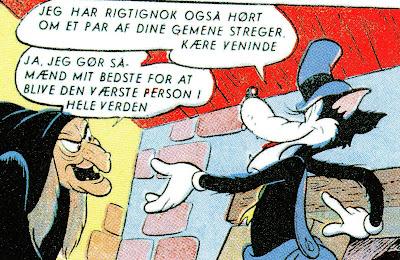Store Stygge Ulv udveksler erfaringer med heksen fra Snehvide.