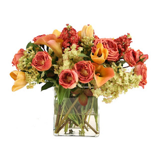 Calla Lillies and Rose Faux Flower Arrangement