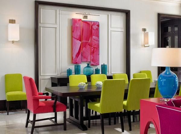 Decoração de sala colorida