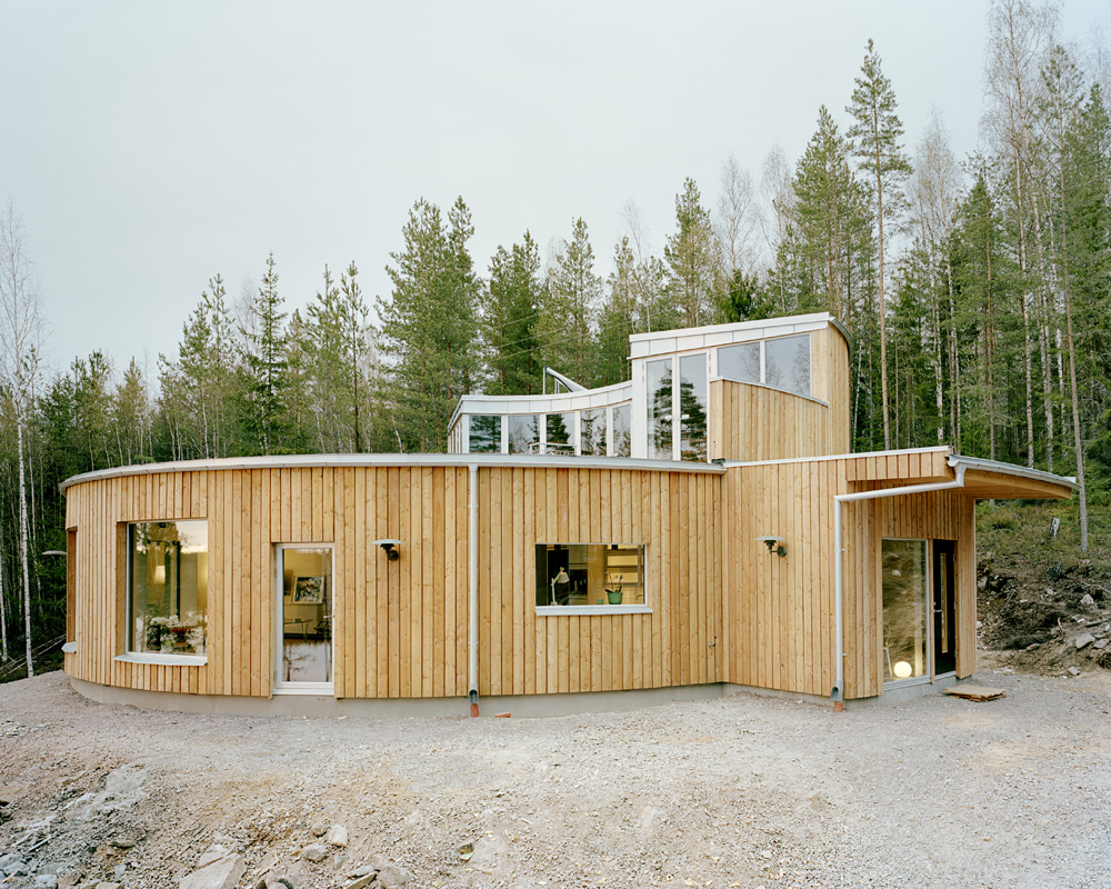 villa nyberg - round passive house, sweden: most beautiful houses