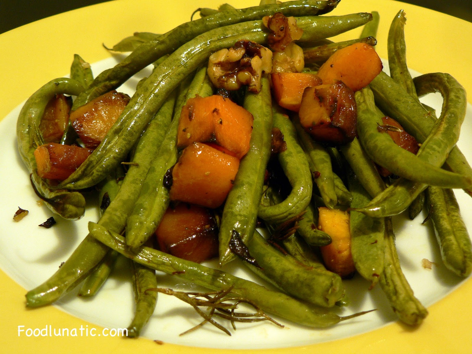 Food Lunatic: Roasted Butternut Squash with Green Beans ...