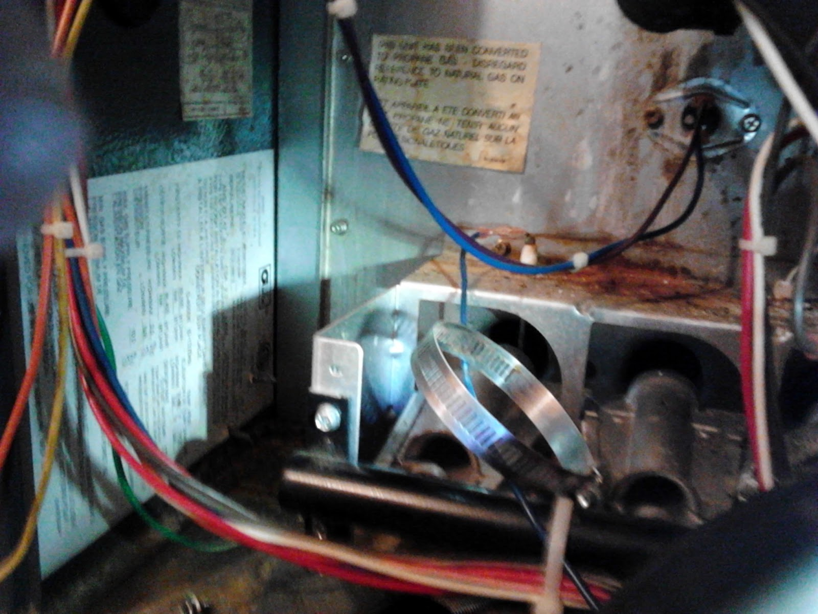 Improper Wiring Furnace Just Another Diagram Blog Main Service Disconnect Fixing Grace Amana 90 Down Flow Fix Rh Fixinggrace Com Sub Panel