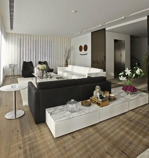 #474503 Construindo Minha Casa Clean Salas de Estar e de TV Modernas 484x514 píxeis em Aparador Para Sala De Estar Moderna
