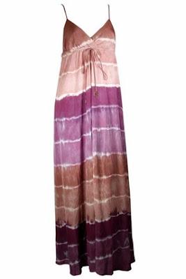Gypsy 05 Hallie Silk Tie-Dye Dress in Purple Brown
