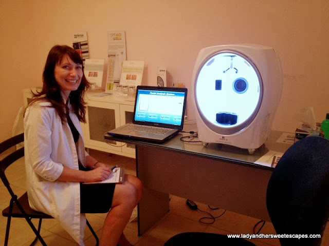 Purity Med Spa's skin analysis machine