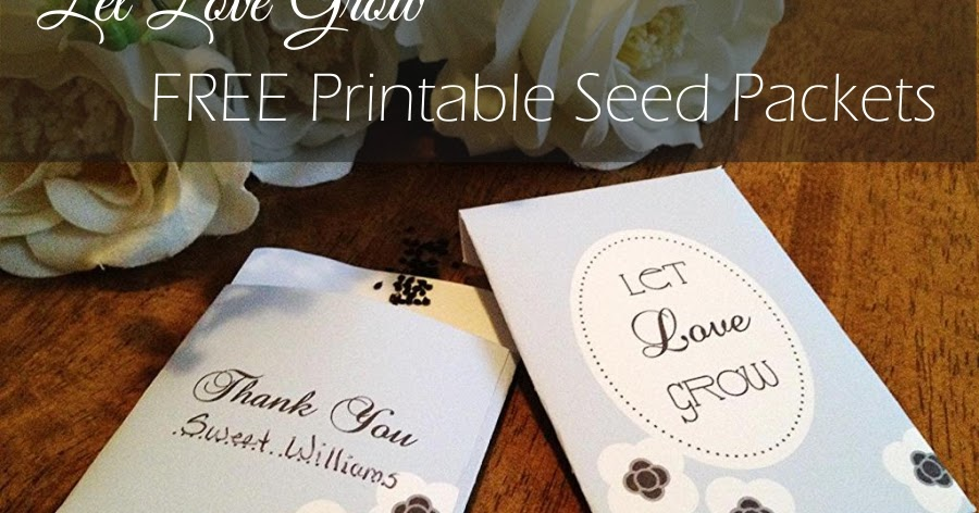 Zany image inside free printable seed packets