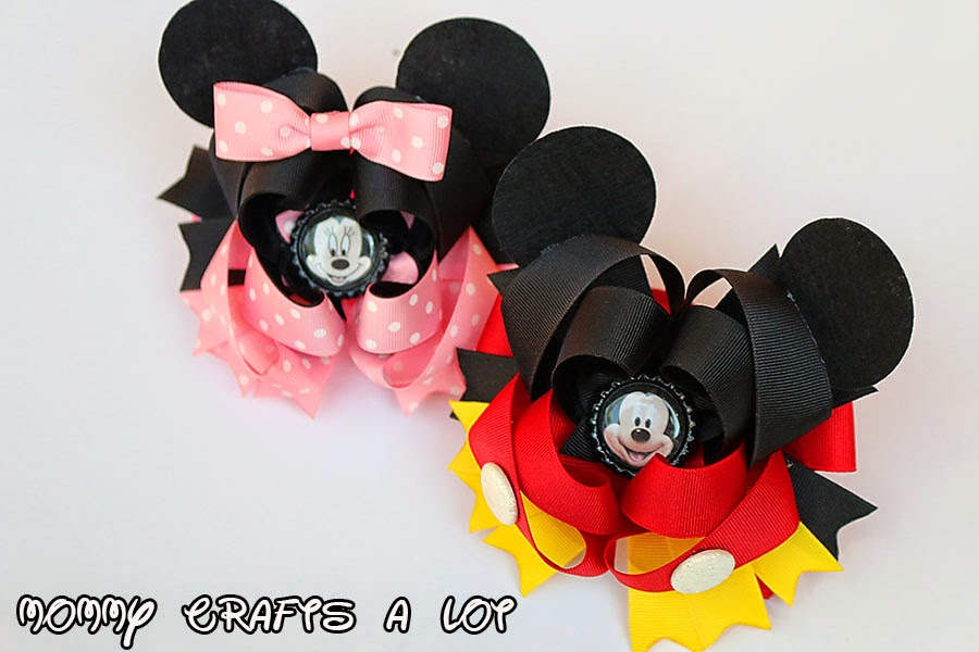 MommyCraftsAlot: Mickey/Minnie Mouse inspired hair bow tutorial