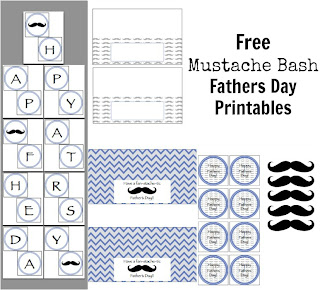 Mustache Bash Fathers Day Printables
