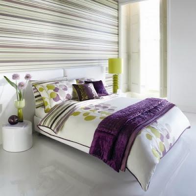 dormitorio decoración a rayas