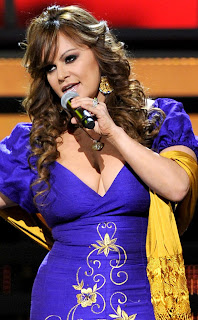 Jenni Rivera sexy performance in blue dress before death