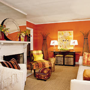 Orange Living Room Accessories