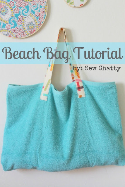 beach bag tutorial by sew chatty