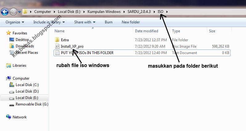 "Rubah nama file iso menjadi ""Install_XP_pro"""