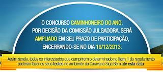 """Concurso Caminhoneiro do Ano """"Caravana Siga Bem 2013"""""""