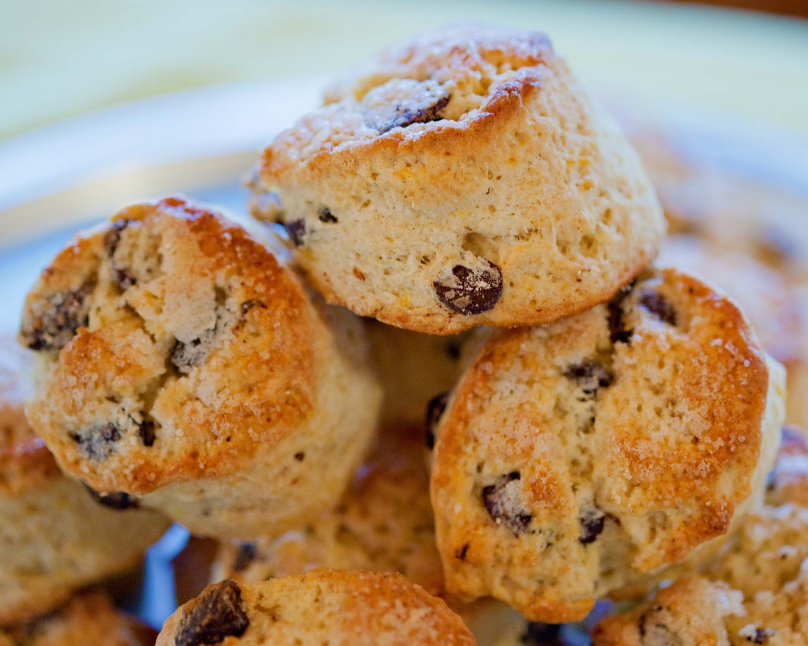 English Scones With Chocolate Chips