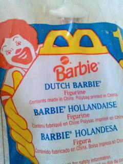 Vintage fast food McDonalds Barbie toy