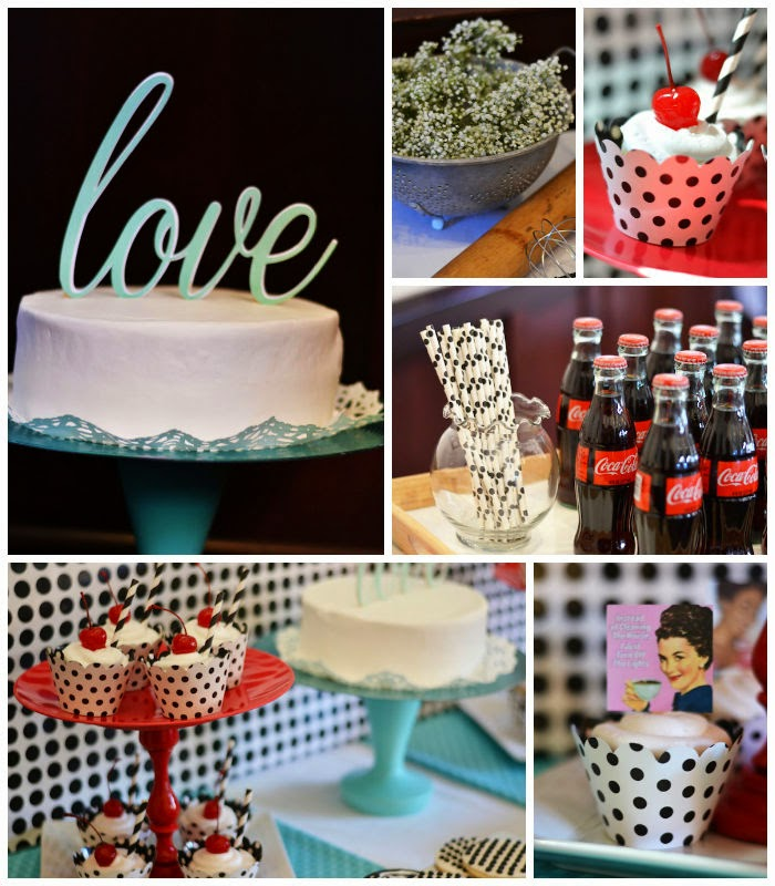 1950's Bridal Shower Kara's Party Ideas, Outside the Box Papers