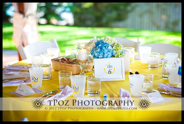 table setting at Port Annapolis Marina Wedding