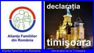 Alianța Familiilor din România 🔴 Declaraţia de la Timişoara – Vă rugăm semnați!
