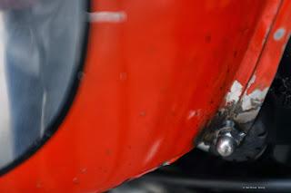Custom Ducati Scrambler Tank zur Befestigung an Honda SLR650.