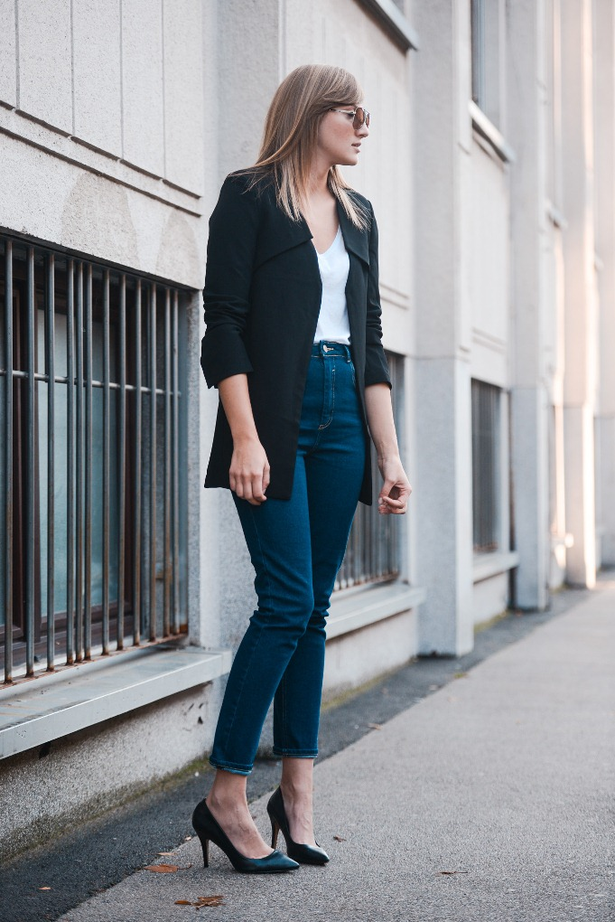 mom jeans, minimalistic outfit, basics, blogger