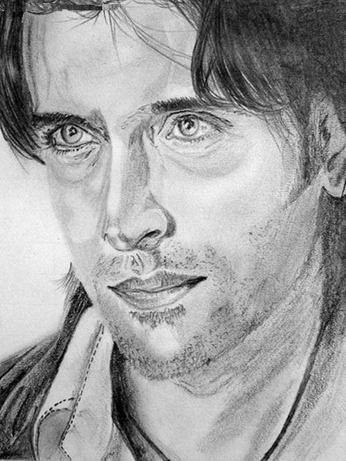 Zaid Khan pencil sketch