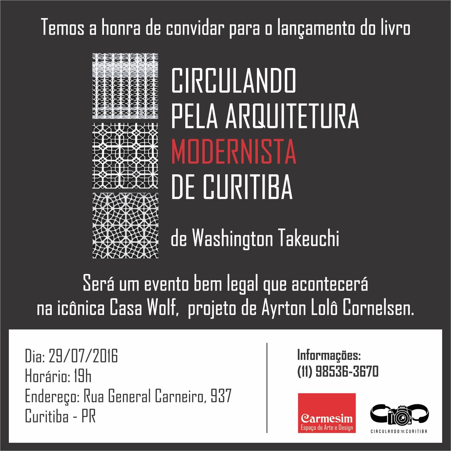 Lançamento do livro Circulando pela Arquitetura Modernista de Curitiba