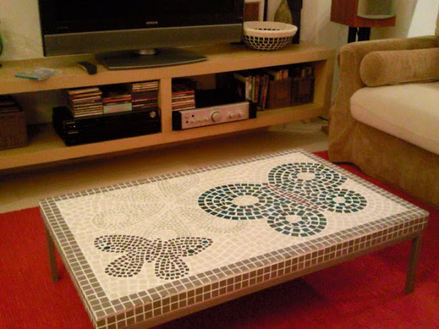 DIY klubbo mosaic table