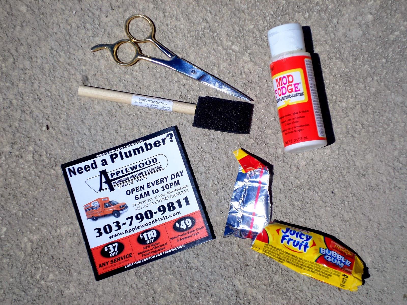 Summer Fun Juicy Fruit Gum Upcycled Wrapper Magnet Supplies #JuicyFruitFunSide #shop