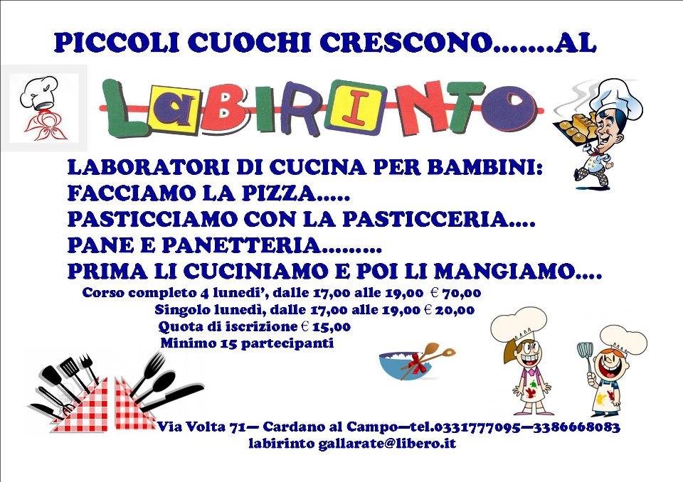 Eventi feste e animazione corsi di cucina per piccoli for Corsi di cucina per bambini