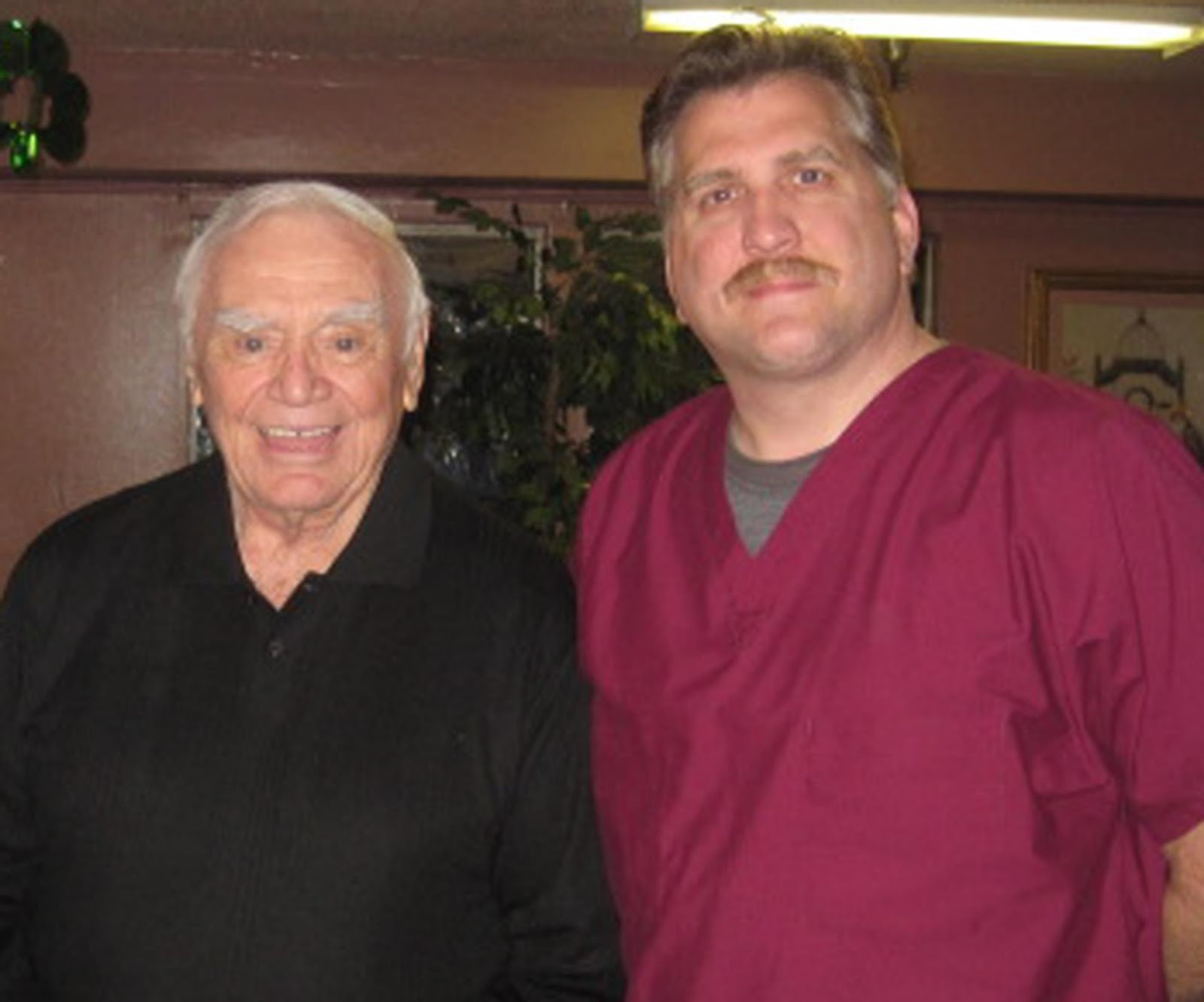 With Ernest Borgnine....one of my all time favorite actors!