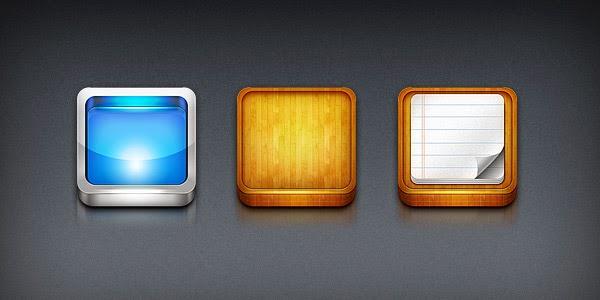 Iphone App Icon Templates PSD