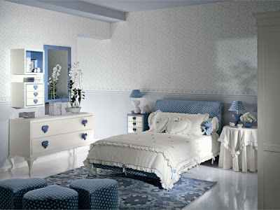 habitación azul para chica