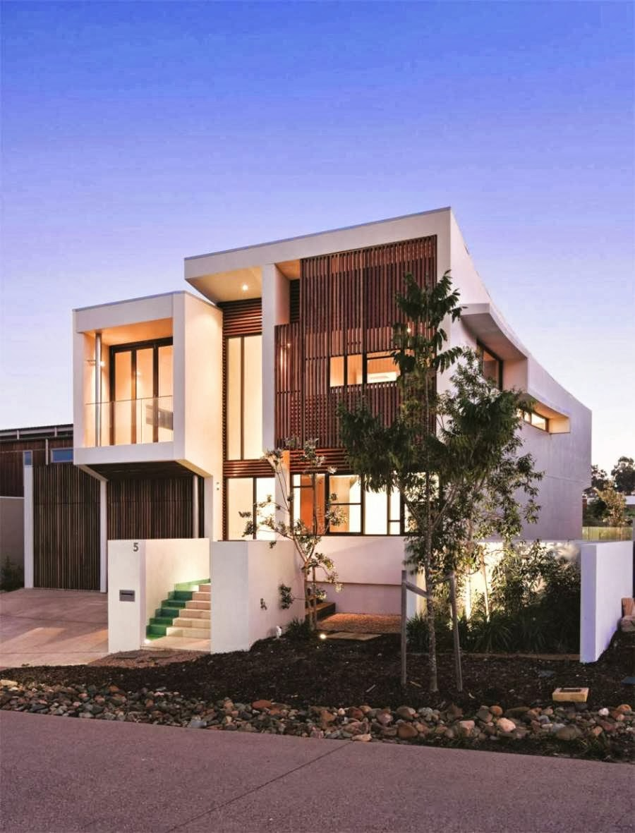 tfq architects modern house fasad rumah