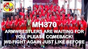 SELANGOR ARMWRESTLERS PRAY FOR MH370 & MH17